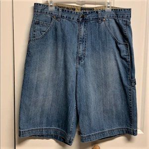 Champs Carpenter Shorts Size 34 Blue Denim
